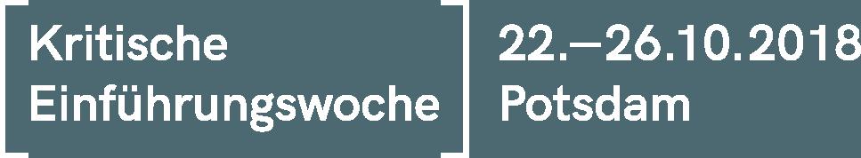 Kritische Einführungswoche vom 22. bis 26. Oktober 2018 in Potsdam